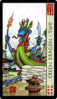 Two of Pentacles Tarot Card - Feng Shui Tarot Deck