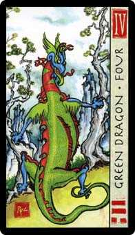 Four of Discs Tarot Card - Feng Shui Tarot Deck