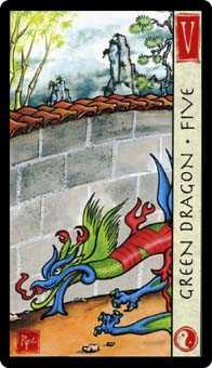 Five of Coins Tarot Card - Feng Shui Tarot Deck