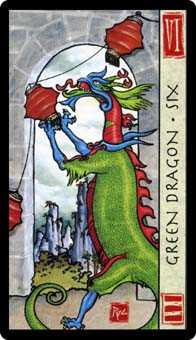 Six of Pentacles Tarot Card - Feng Shui Tarot Deck