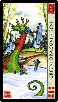 Ten of Earth Tarot Card - Feng Shui Tarot Deck