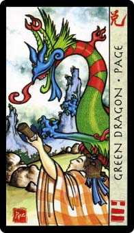 Slave of Pentacles Tarot Card - Feng Shui Tarot Deck