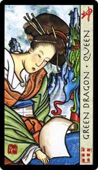 Queen of Coins Tarot Card - Feng Shui Tarot Deck