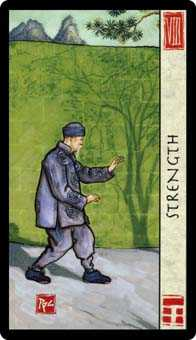 Strength Tarot Card - Feng Shui Tarot Deck