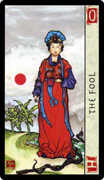 The Fool Tarot card in Feng Shui deck
