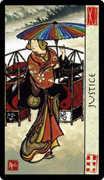 Justice Tarot card in Feng Shui deck