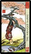 The Hanged Man Tarot card in Feng Shui deck