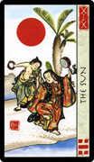 The Sun Tarot card in Feng Shui deck
