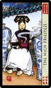 The High Priestess Tarot card in Feng Shui deck