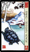 Three of Wands Tarot card in Feng Shui deck
