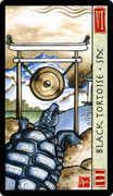 Six of Wands Tarot card in Feng Shui deck