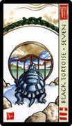 Seven of Wands Tarot card in Feng Shui Tarot deck