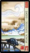 Eight of Wands Tarot card in Feng Shui deck
