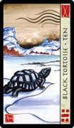 Ten of Wands Tarot card in Feng Shui deck
