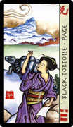 Page of Wands Tarot card in Feng Shui deck