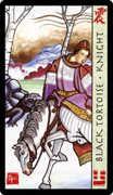 Knight of Wands Tarot card in Feng Shui deck