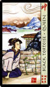 Queen of Wands Tarot card in Feng Shui deck
