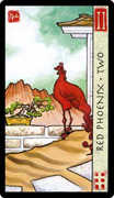 Two of Cups Tarot card in Feng Shui deck