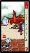Five of Cups Tarot card in Feng Shui deck