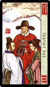 The Lovers Tarot card in Feng Shui deck