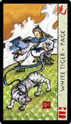 Page of Swords Tarot card in Feng Shui deck