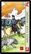 Knight of Swords Tarot card in Feng Shui deck