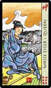 Queen of Swords Tarot card in Feng Shui deck