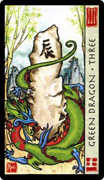 Three of Coins Tarot card in Feng Shui deck