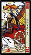 The Chariot Tarot card in Feng Shui deck