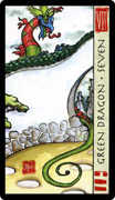 Seven of Coins Tarot card in Feng Shui deck