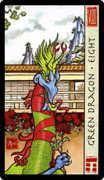 Eight of Coins Tarot card in Feng Shui deck