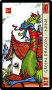 Nine of Coins Tarot card in Feng Shui deck