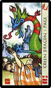 Page of Coins Tarot card in Feng Shui deck