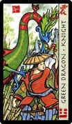 Knight of Coins Tarot card in Feng Shui deck