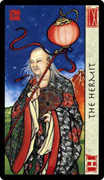 The Hermit Tarot card in Feng Shui deck