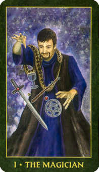 The Magus Tarot Card - Forest Folklore Tarot Deck
