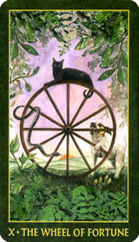The Wheel of Fortune Tarot Card - Forest Folklore Tarot Deck