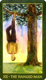 The Hanged Man Tarot Card - Forest Folklore Tarot Deck