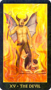 The Devil Tarot Card - Forest Folklore Tarot Deck