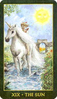 The Sun Tarot Card - Forest Folklore Tarot Deck
