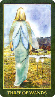 Three of Wands Tarot Card - Forest Folklore Tarot Deck