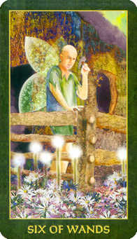 Six of Rods Tarot Card - Forest Folklore Tarot Deck
