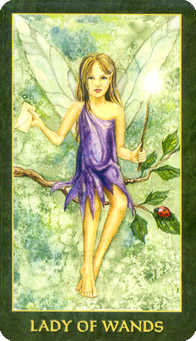 Daughter of Wands Tarot Card - Forest Folklore Tarot Deck