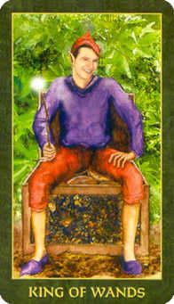 King of Batons Tarot Card - Forest Folklore Tarot Deck
