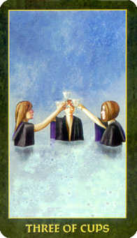 Three of Hearts Tarot Card - Forest Folklore Tarot Deck