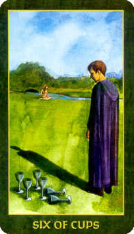 Six of Cups Tarot Card - Forest Folklore Tarot Deck