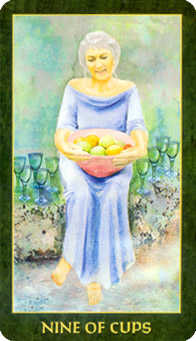 Nine of Bowls Tarot Card - Forest Folklore Tarot Deck
