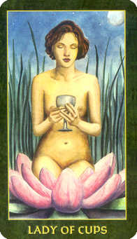 Daughter of Cups Tarot Card - Forest Folklore Tarot Deck