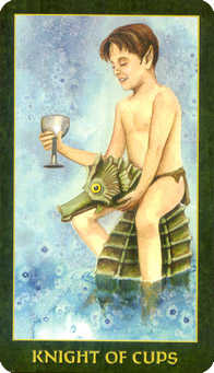 Knight of Water Tarot Card - Forest Folklore Tarot Deck