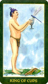 King of Cups Tarot Card - Forest Folklore Tarot Deck